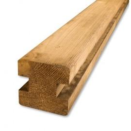 Poteau de jonction H pour palissade bois PARANA