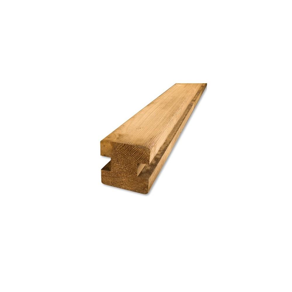 Poteau de jonction h parana en pin palissade bois deck for Poteau bois exterieur