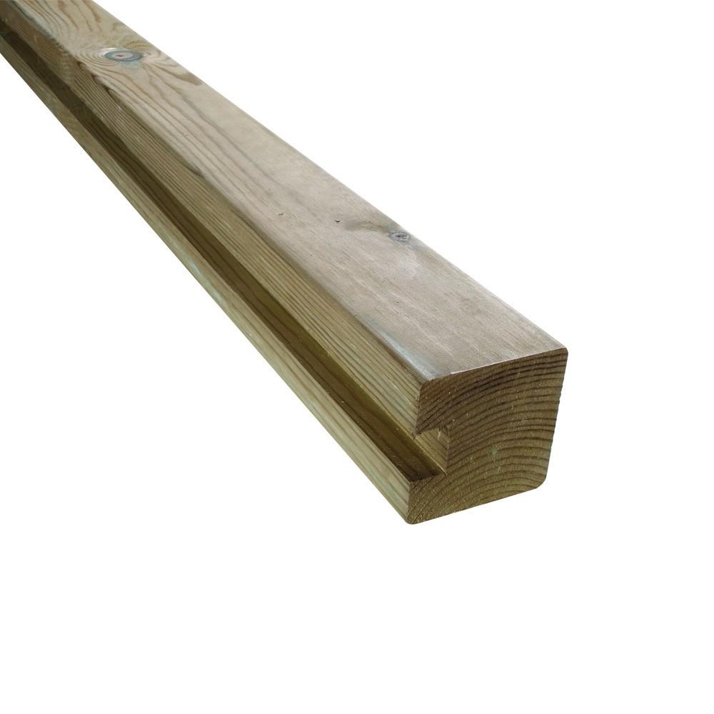 Poteau de finition u parana en pin palissade bois deck for Poteau bois exterieur