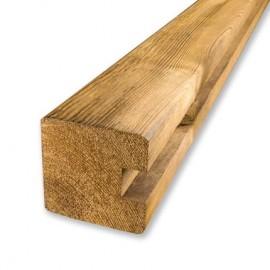 Poteau de finition U pour palissade bois PARANA