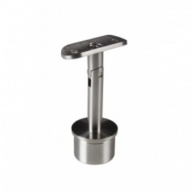 Support de main courante orientable sur poteau - Inox