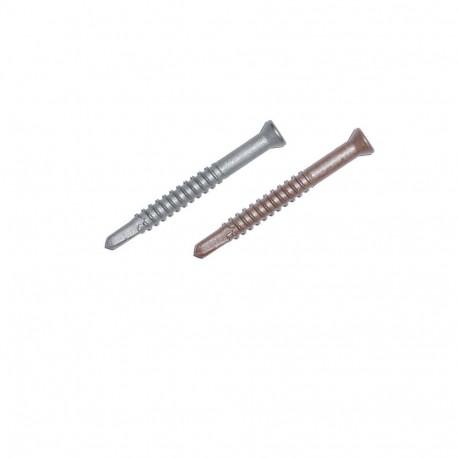 Vis métal inox brune pour finition terrasse aluminium structural