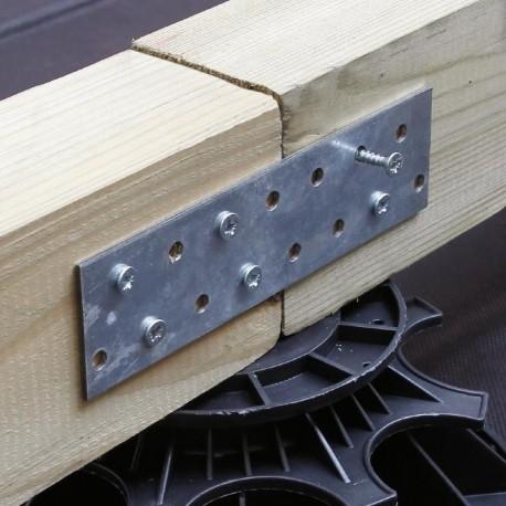 Connecteur galvanisé de lambourdes en bois