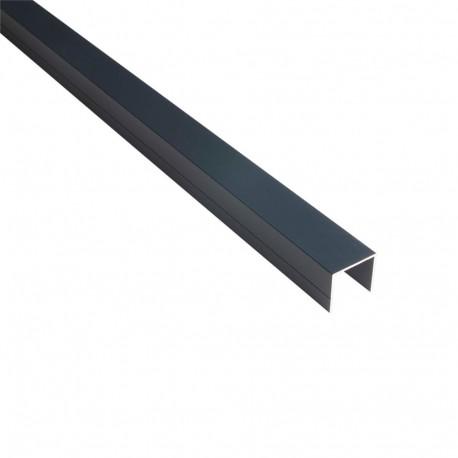 Profil aluminium en U 28 mm pour palissade