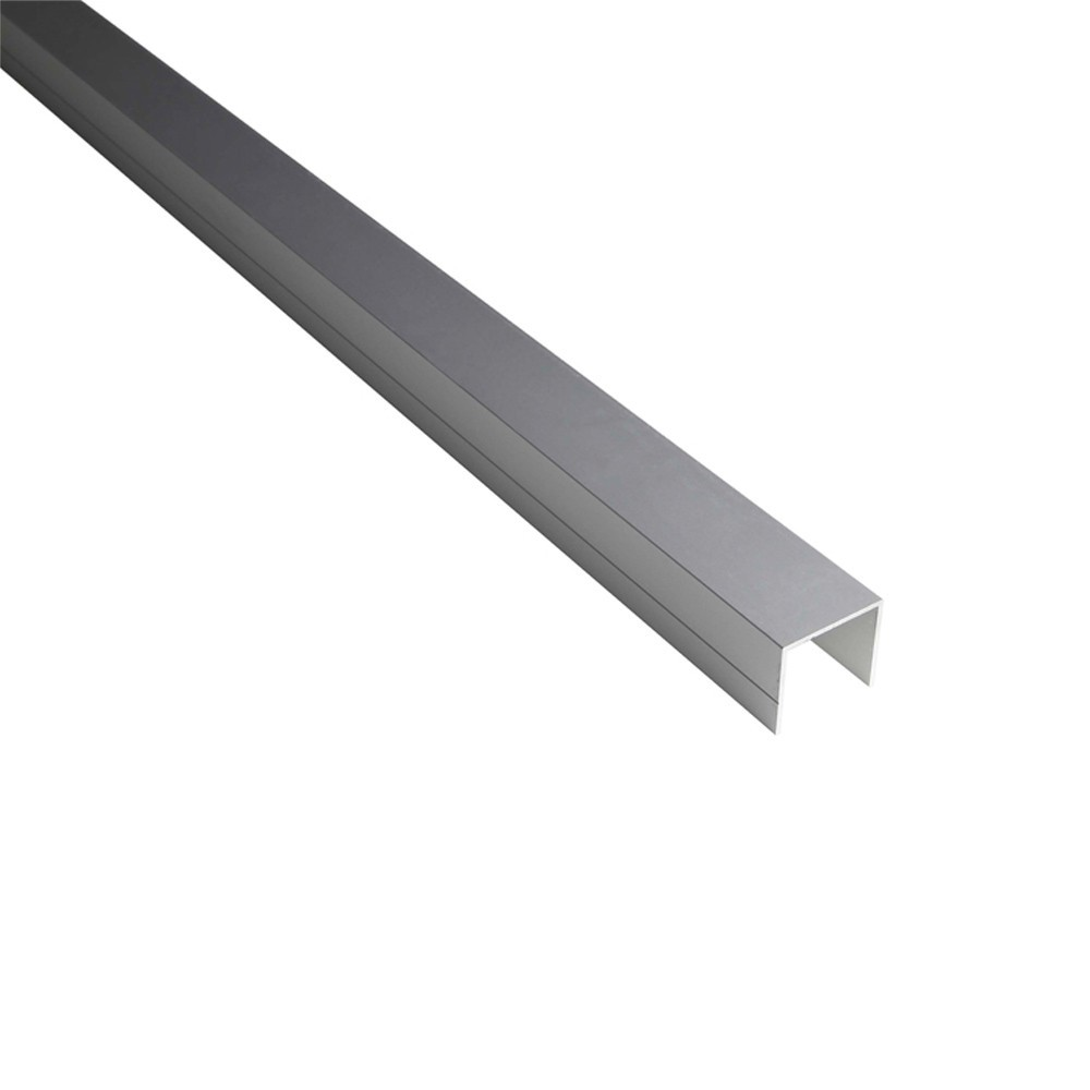 profil en u 28mm palissade bois composite aluminium ideal deck linea. Black Bedroom Furniture Sets. Home Design Ideas
