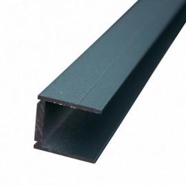 ideal profil en u 24 mm palissade bois composite. Black Bedroom Furniture Sets. Home Design Ideas