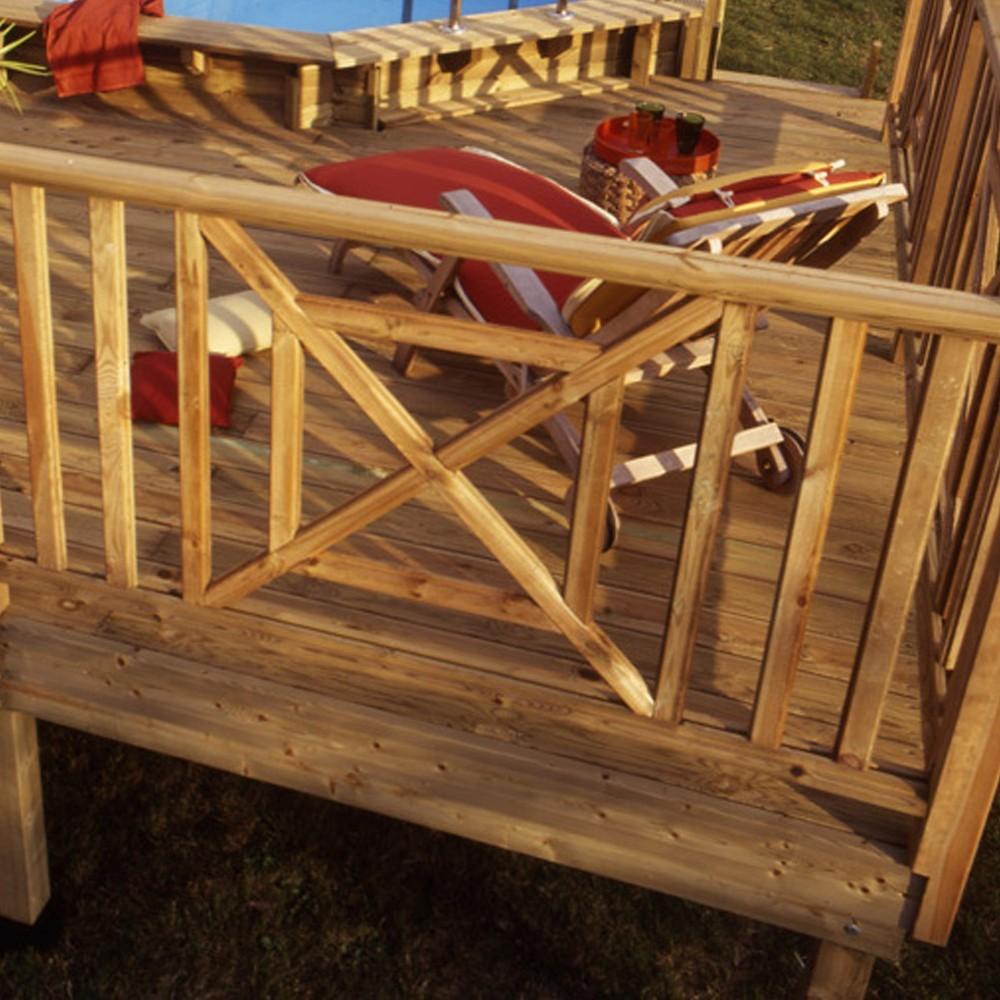 croix st andr en pin garde corps en bois deck linea. Black Bedroom Furniture Sets. Home Design Ideas