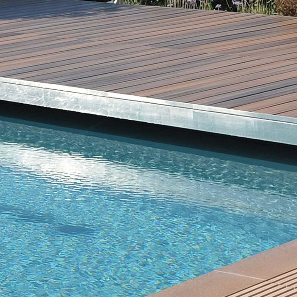 corni re de finition aluminium anodis argent entretien et outillage deck linea. Black Bedroom Furniture Sets. Home Design Ideas