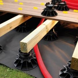 Feutre geotextile pour terrasse bois