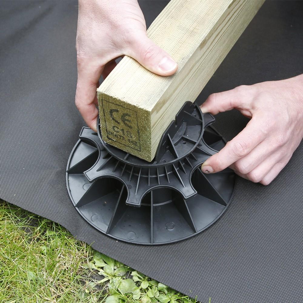 plot pour terrasse nivo h50 80mm plot pour lambourdes. Black Bedroom Furniture Sets. Home Design Ideas