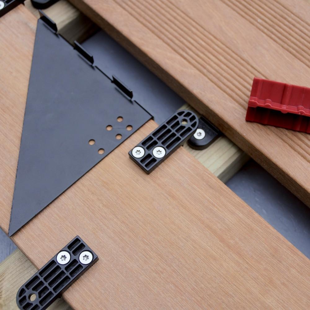 clip d lock universel clip de fixation terrasse deck linea. Black Bedroom Furniture Sets. Home Design Ideas