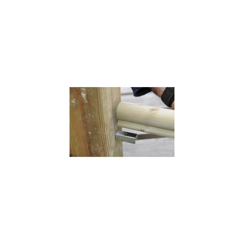 patte de fixation rampe poteau garde corps en bois deck linea. Black Bedroom Furniture Sets. Home Design Ideas