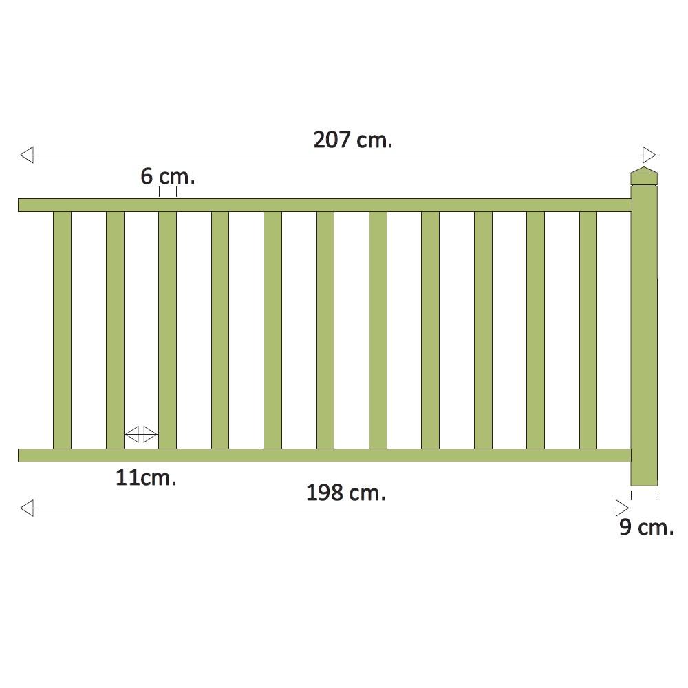 kit garde corps louisiane motif b11 kit garde corps deck linea. Black Bedroom Furniture Sets. Home Design Ideas