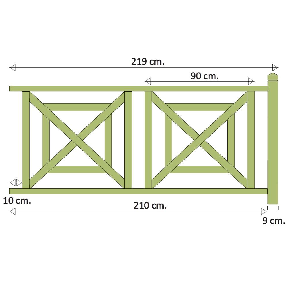 kit garde corps louisiane motif 5 kit garde corps deck linea. Black Bedroom Furniture Sets. Home Design Ideas