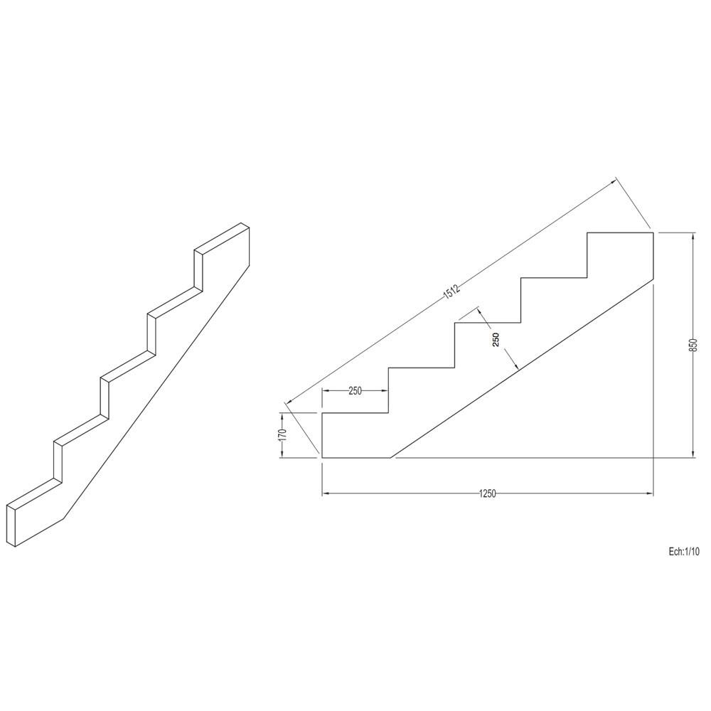 epaisseur marche escalier. Black Bedroom Furniture Sets. Home Design Ideas