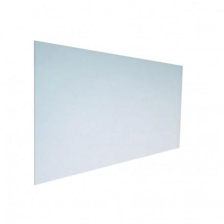 panneau de verre sur un garde corps inox