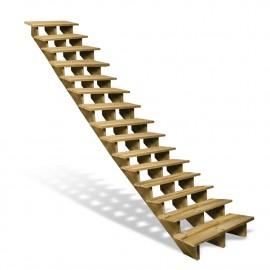 Escalier en bois 15 marches