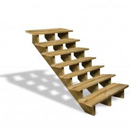 Escalier en bois 7 marches