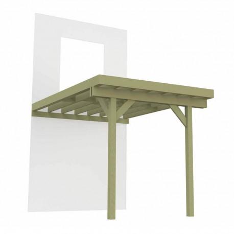 3D Terrasse sur pilotis 2 poteaux 4m x 4,2m - 16,8m²