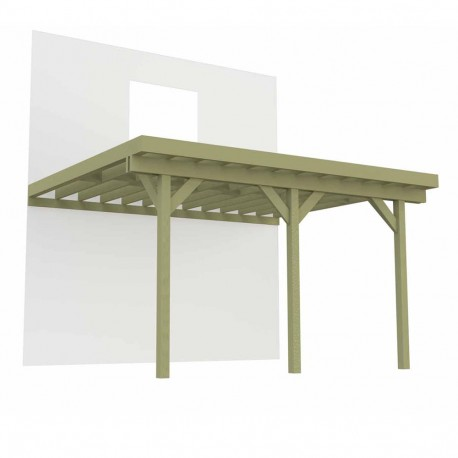 Terrasse sur pilotis 3 poteaux 6m x 4 2m 25 2m deck linea - Quel bois pour terrasse sur pilotis ...