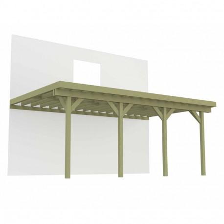 Terrasse sur pilotis 3 poteaux 8,4m x 4,2m - 35,2m²
