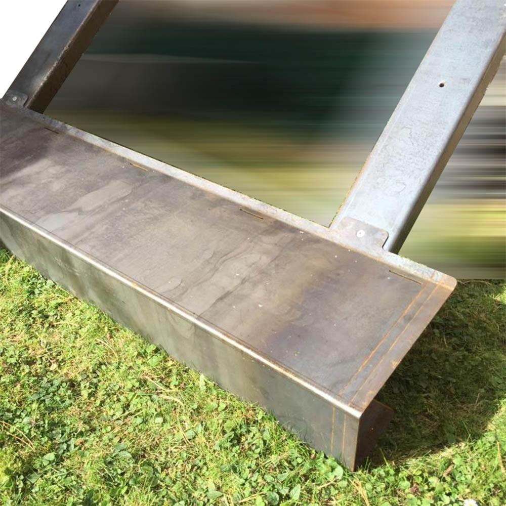Escalier en acier corten pour extérieur livré en kit - deck-linea