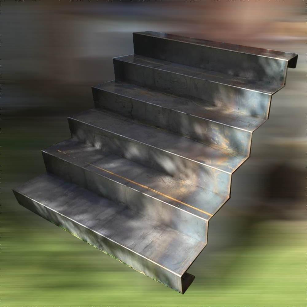 Escalier En Acier Corten Pour Ext 233 Rieur Livr 233 En Kit