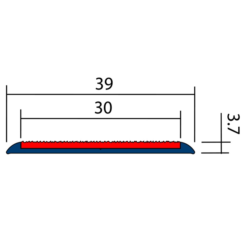 Antidérapant Terrasse Bois Profil Plat 38mm X 1m