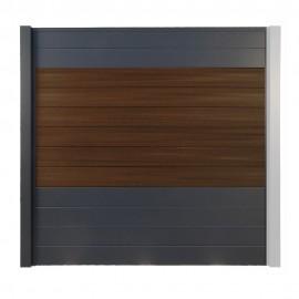 Brise vue Composite - Aluminium OPAL Redwood 186 cm
