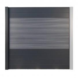 Brise vue Composite - Aluminium OPAL Gris Ardoise 186 cm