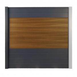 Brise vue Composite - Aluminium OPAL Brun Teck 186 cm