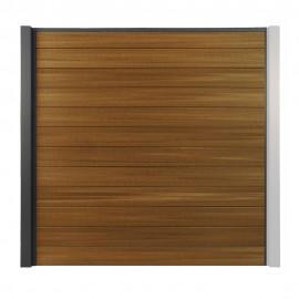 Clôture composite OPAL Brun Teck 186 cm
