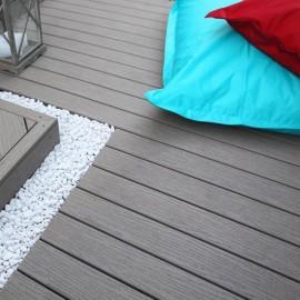 10 m2 - Lot de lames Terranova Gris Lunaire 20x127mm x 2.44m