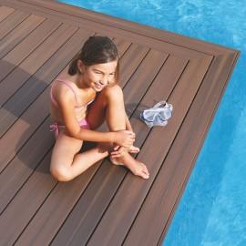14,8 m2 - Lot de lames Terranova XTREME 20x127mm x 2.44m Brun Exotique