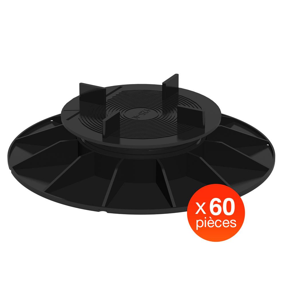 plot nivo h25 40mm pour dalles 60pcs. Black Bedroom Furniture Sets. Home Design Ideas
