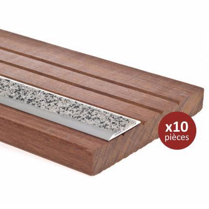 antid rapant terrasse bois profil plat 38mm x 1m 10pcs. Black Bedroom Furniture Sets. Home Design Ideas