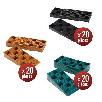 Lots de cales crant es pour terrasse bois deck linea - Cale plastique pour terrasse bois ...