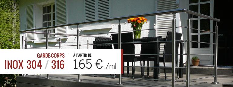 vente de garde corps de terrasse piscine balcon deck linea. Black Bedroom Furniture Sets. Home Design Ideas