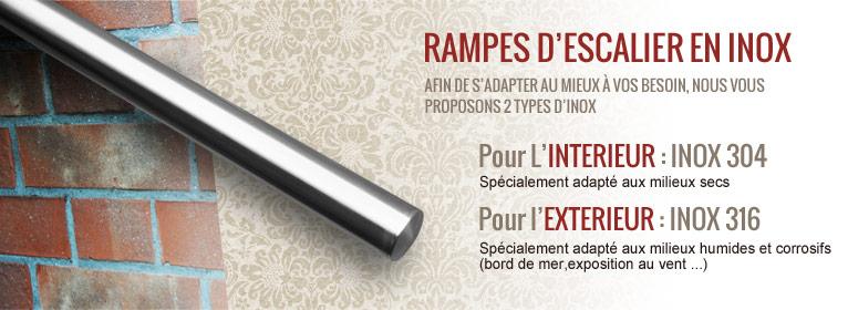 rampe inox. Black Bedroom Furniture Sets. Home Design Ideas