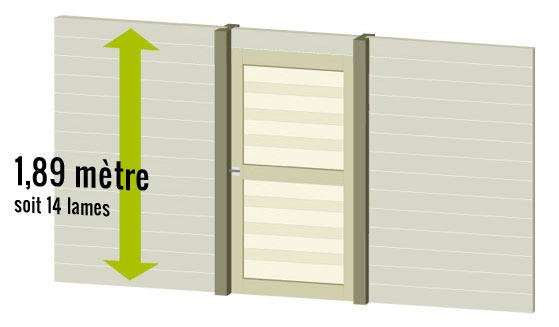 Porte de service pour palissade et cloture bois deck linea for Porte cloture bois