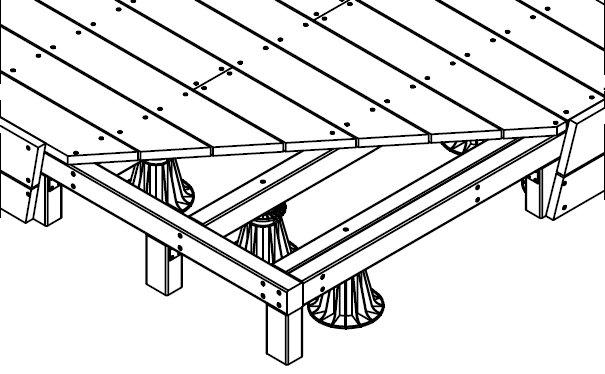 Terrasse sur chevron et plot PVC  guide de pose terrasse sur chevron