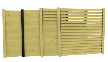 palissade et cloture en bois ou bois composite deck linea deck linea. Black Bedroom Furniture Sets. Home Design Ideas