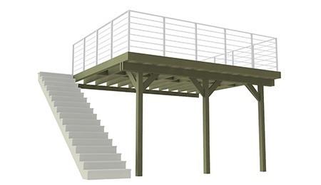 Structure sur Pilotis
