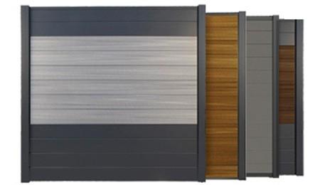 Palissade Bois Composite Aluminium OPAL