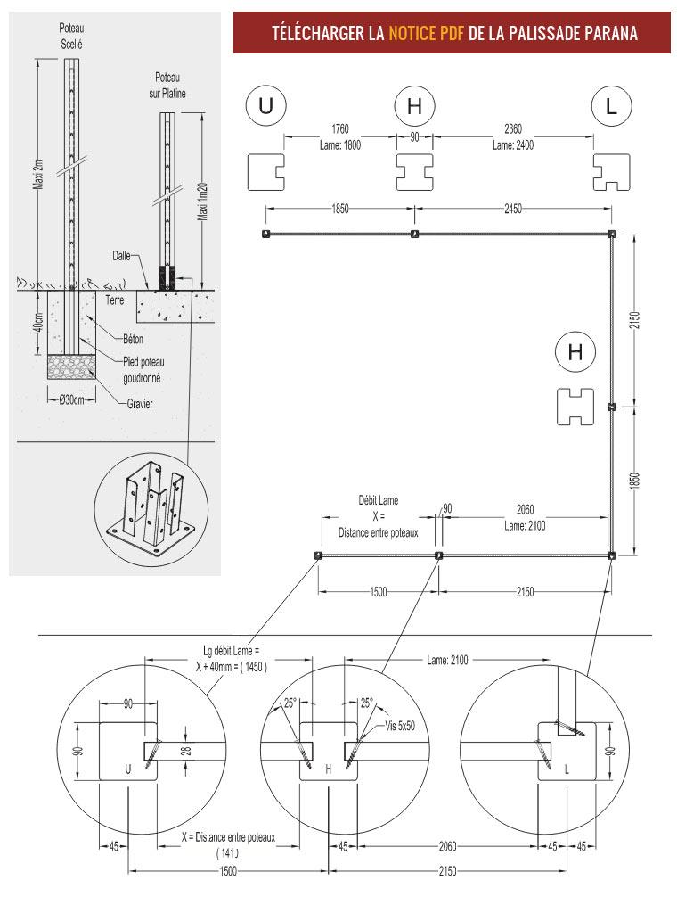 Guide De Pose  Installation DUne Palissade Bois Parana  Deck Linea