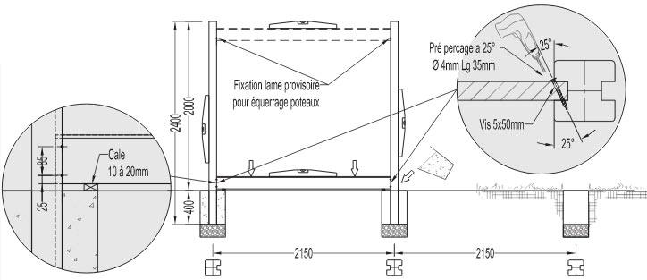 guide de pose installation d 39 une palissade bois parana deck linea. Black Bedroom Furniture Sets. Home Design Ideas