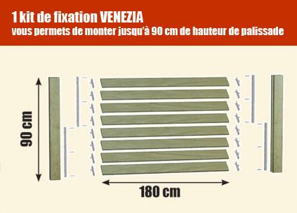 kit de fixation venezia palissade bois deck linea. Black Bedroom Furniture Sets. Home Design Ideas
