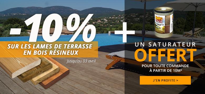 Decklinea 10% de remise sur votre terrasse bois