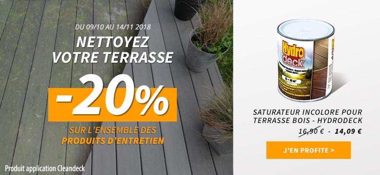 promo entretien terrasse bois