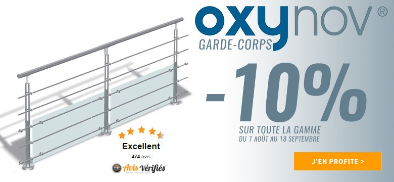 opération commerciale garde-corps inox